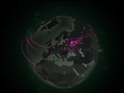 Map of real time war on computer crimes