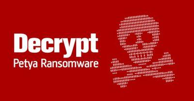 Petya ransomware virus